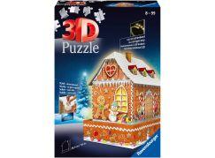 Ravensburger 3D puzzle 112371 Perníková chaloupka (Noční edice) 216 dílků