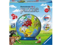 Ravensburger 3D Puzzle 118403 Malovaný globus 72 dílků