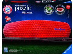 Ravensburger 3D puzzle 125302 Allianz Arena Noční edice 216 dílků