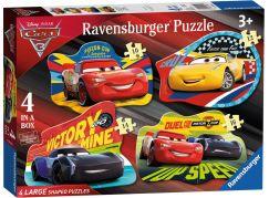 Ravensburger Disney Auta 4v1 tvary puzzle - Poškozený obal
