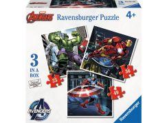 Ravensburger Disney Avengers Super tým hrdinů Puzzle 25,36,49 dílků
