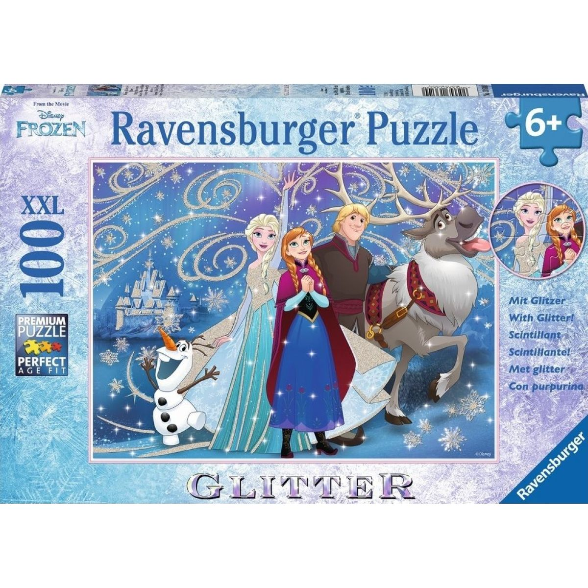 Ravensburger Disney Ledové království svítící sníh 100 dílků