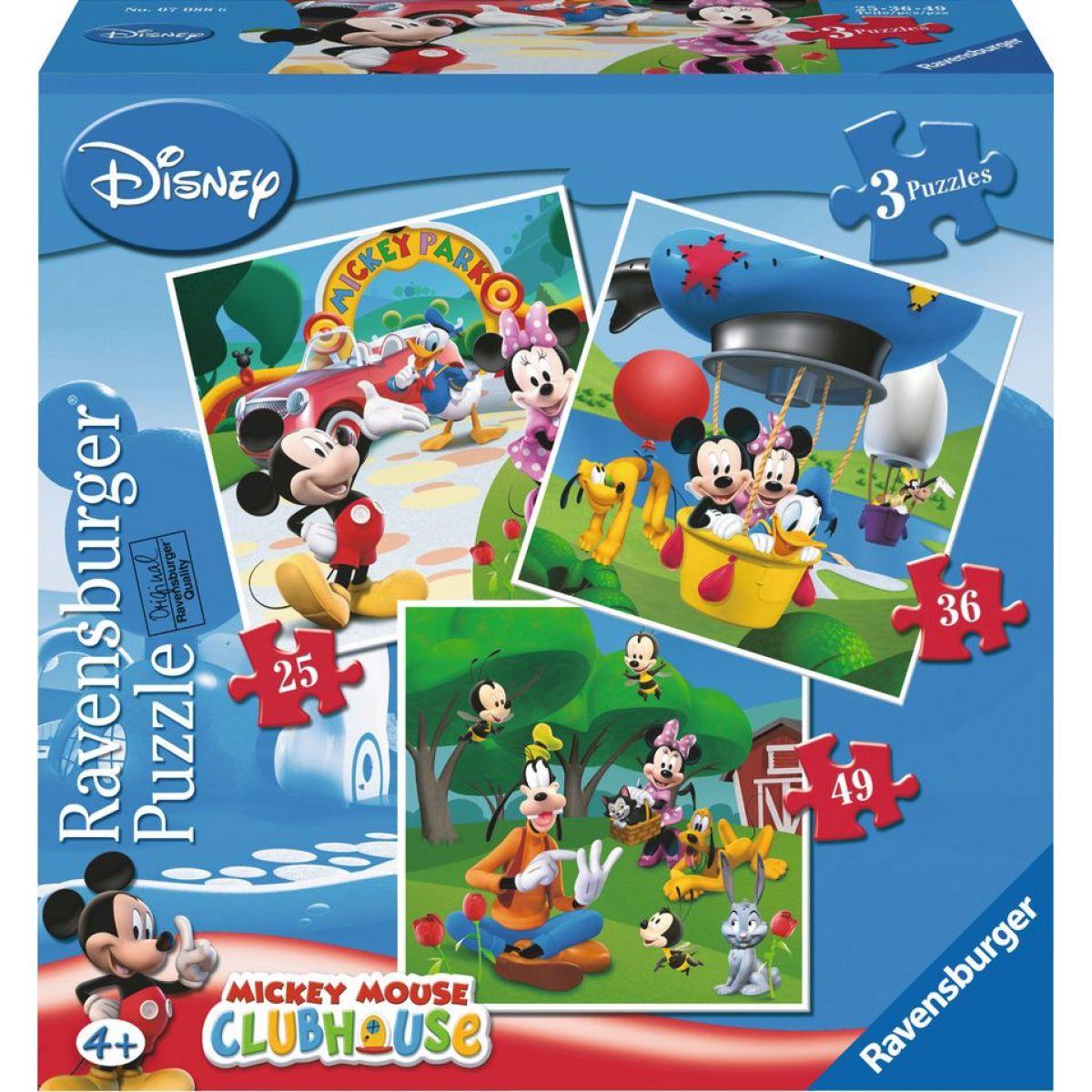 Ravensburger Disney Mickey v Parku puzzle 25,36,49 dílků