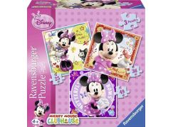 Ravensburger Disney Minnie Mouse 3 in a Box puzzle 25,36,49 dílků
