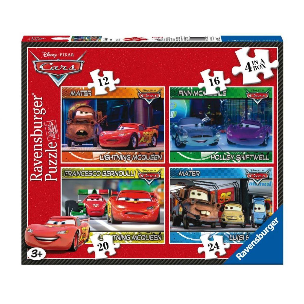 Ravensburger Disney Puzzle Auta 4x puzzle v boxu