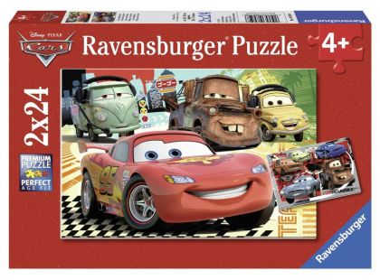 Ravensburger Disney Puzzle Auta Nová dobrodružství 2x24 dílků