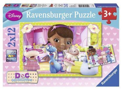 Ravensburger Disney Puzzle Doktorka Plyšáková 2x12 dílků