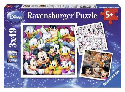 Ravensburger Disney Puzzle Klasika 3x 49 dílků