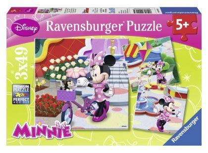 Ravensburger Disney Puzzle Krásná Minnie Mouse 3x 49 dílků