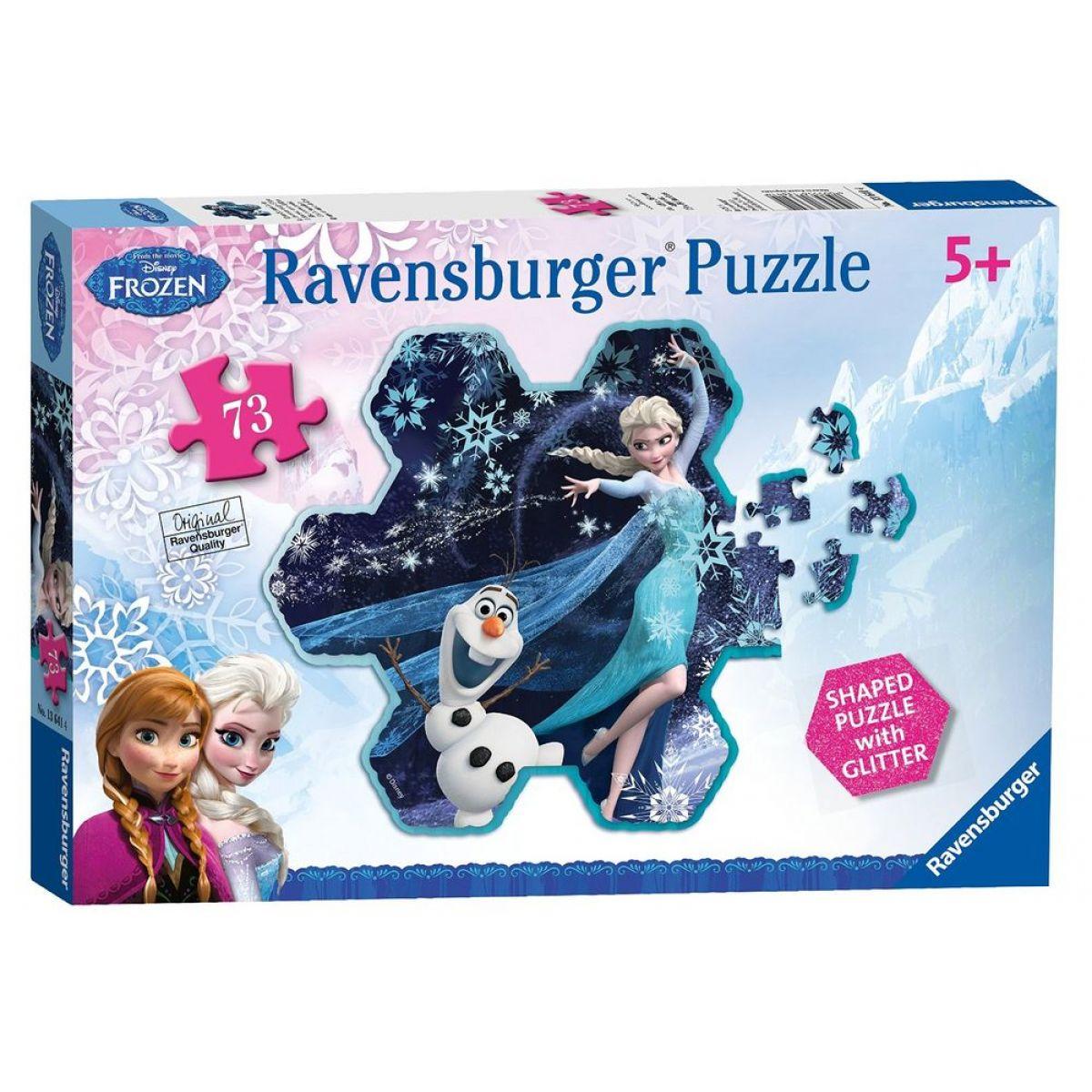 Ravensburger Disney Puzzle Ledové království - Elsina sněhová vločka 73 dílků