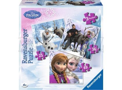 Ravensburger Disney Puzzle Ledové království 3v1