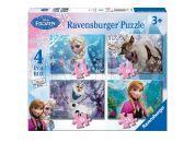 Ravensburger Disney Puzzle Ledové království 4x puzzle v boxu