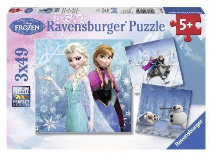 Ravensburger Disney Puzzle Ledové království dobrodružství na sněhu 3x 49 dílků