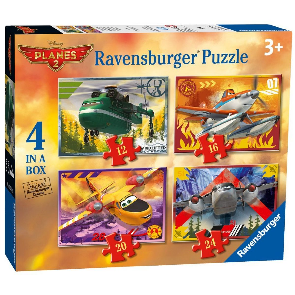 Ravensburger Disney Puzzle Letadla 4x puzzle v boxu