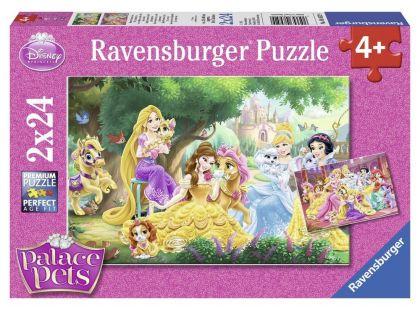 Ravensburger Disney Puzzle Nejlepší přátelé princezen 2x24 dílků