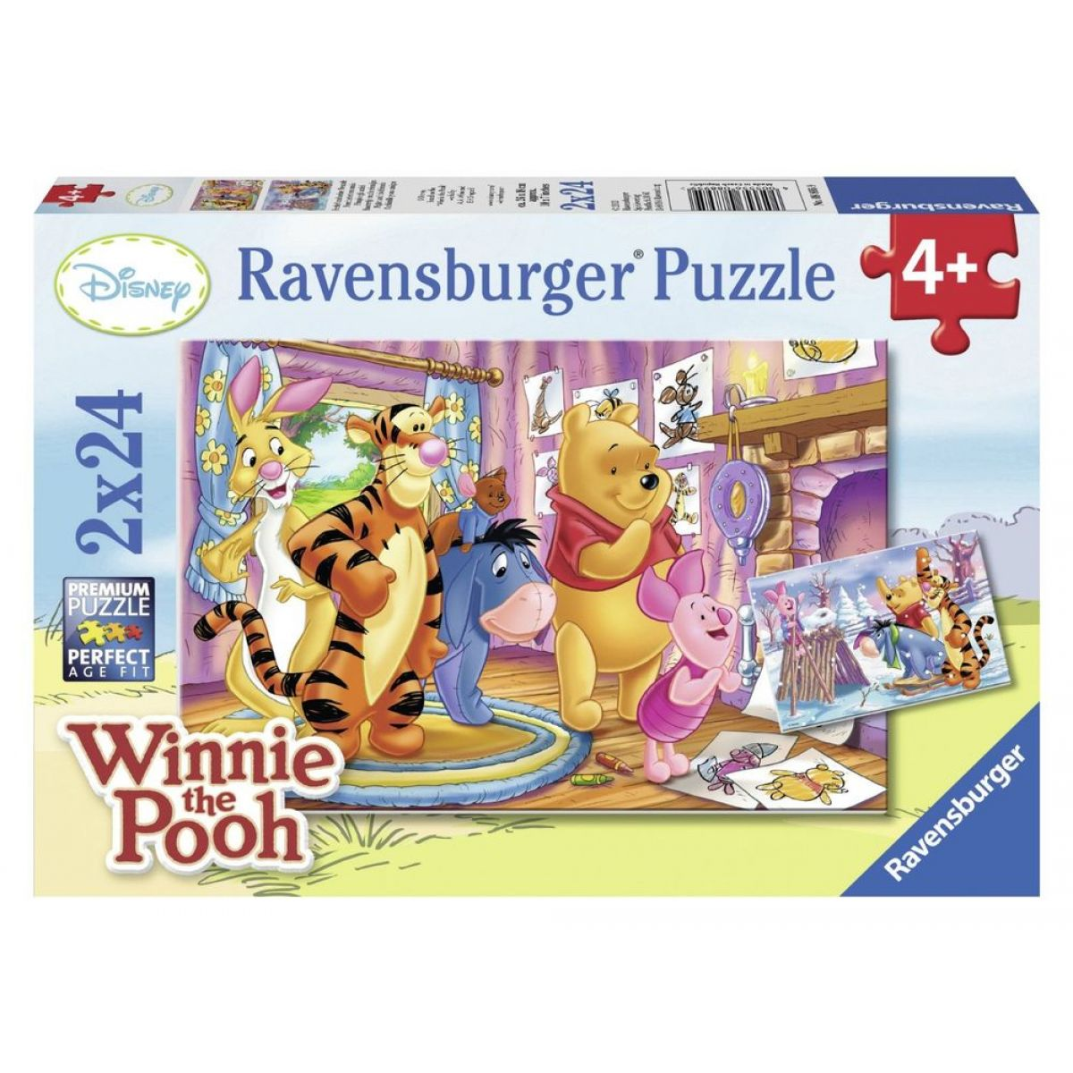 Ravensburger Disney Puzzle Prasátko a jeho přátelé 2x24 dílků