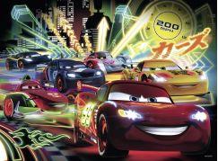 Ravensburger Disney Puzzle XXL Auta Neonová světla 100 dílků