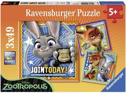 Ravensburger Disney Puzzle Zootropolis 3x49dílků