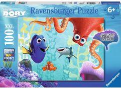 Ravensburger Hledá se Dory puzzle 100 dílků svítící