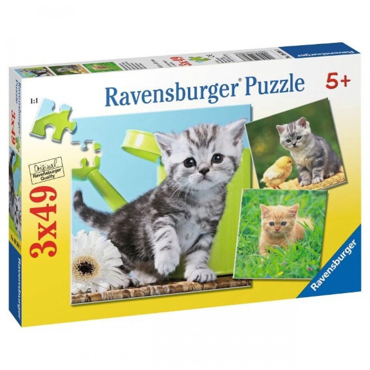 Ravensburger Koťata 3x49 dílků