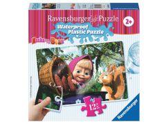 Ravensburger Máša a medvěd Voděodolné puzzle Máša s veverkou 12 dílků