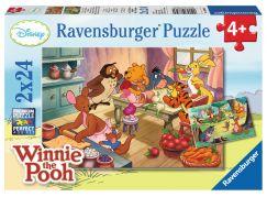 Ravensburger Medvídek Pú Puzzle Oslava 2x24 dílků