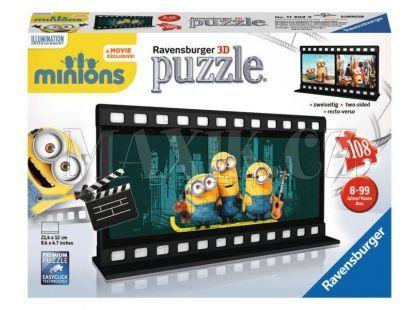 Ravensburger Mimoňové Puzzle 3D Filmová páska 108 dílků