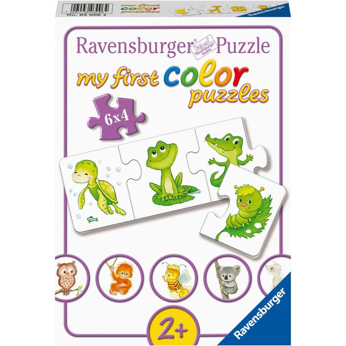 Ravensburger puzzle 030064 Moje první barevné puzzle zvířátka 6x4 dílků
