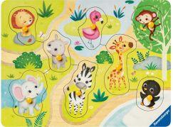 Ravensburger Puzzle 036875 Zoo zvířata 8 dílků