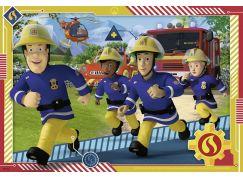 Ravensburger puzzle 050154 Požárník Sam a jeho tým 2x12 dílků