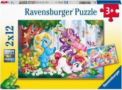 Ravensburger puzzle 050284 Kouzelný svět jednorožců 2x12 dílků