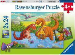 Ravensburger puzzle 050307 Hraví dinosauři 2x24 dílků