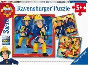 Ravensburger puzzle 050772 Požárník Sam zachraňuje 3x49 dílků