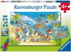 Ravensburger puzzle 050895 Piráti 2x24 dílků