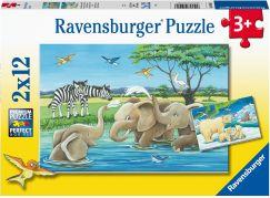 Ravensburger puzzle 050956 Zvířata z celého světa 2x12 dílků