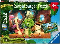 Ravensburger puzzle 051250 Gigantosaurus 2x12 dílků