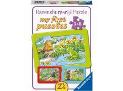 Ravensburger Puzzle 051380 Malá zahradní zvířata 3x6 dílků