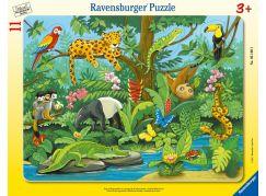 Ravensburger Puzzle 051403 Zvířata v deštném pralese 11 dílků