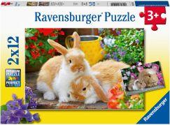 Ravensburger Puzzle 051441 Čas na mazlení 2x12 dílků