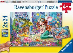Ravensburger Puzzle 051472 Mořské víly 2x24 dílků