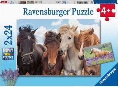 Ravensburger Puzzle 051489 Fotky koní 2x24 dílků