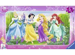 Ravensburger Puzzle 060474 Procházka s princeznami 15 dílků