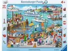 Ravensburger Puzzle 061525 Den v přístavu 24 dílků