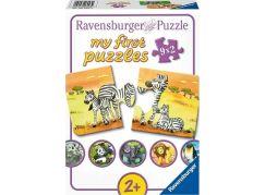 Ravensburger Puzzle 069439 Zvířecí rodinky 9x2 dílků