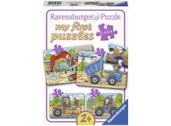 Ravensburger Puzzle 069460 Moje oblíbená vozidla na stavbě 2 4 6 8 dílků