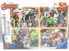 Ravensburger puzzle 070794 Marvel Avengers set 4x100 dílků
