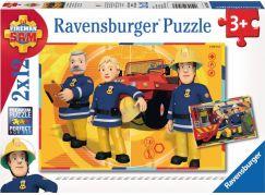 Ravensburger puzzle 075843 Požárník Sam 2x12 dílků