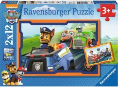 Ravensburger puzzle 075911 Tlapková Patrola v nasazení 2x12 dílků