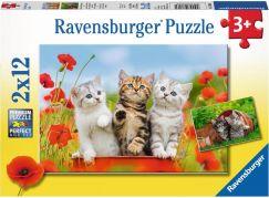 Ravensburger puzzle 076260 Dobrodružství s koťaty 2x12 dílků