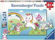 Ravensburger puzzle 078288 Pohádkový jednorožec 2x24 dílků